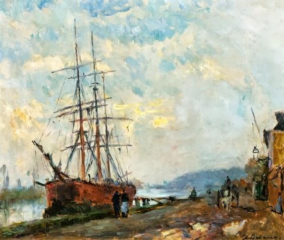 Albert Lebourg - Dieppedalle, Three Master at Quay