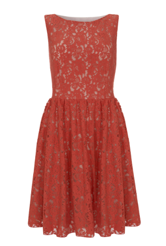 George at ASDA Red Lace Prom Dress