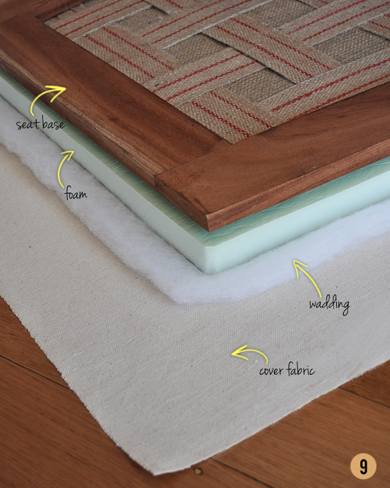 How To Upholster a Drop-In Seat from Scratch