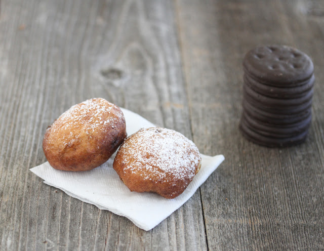 photo of two fried thin mints