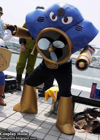 rockman / mega man 2 cosplay - air man