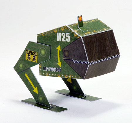 Destructor H25 Paper Toy Robot