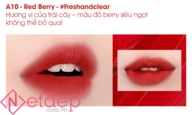 Son Black Rouge Air Fit Velvet Tint Mood Filter A10 Red Berry