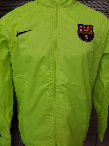 Jaket Parasut Barcelona Hijau Stabilo 2014-2015