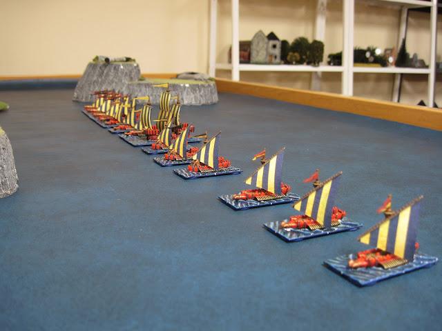 The Empire fleet's battle line.