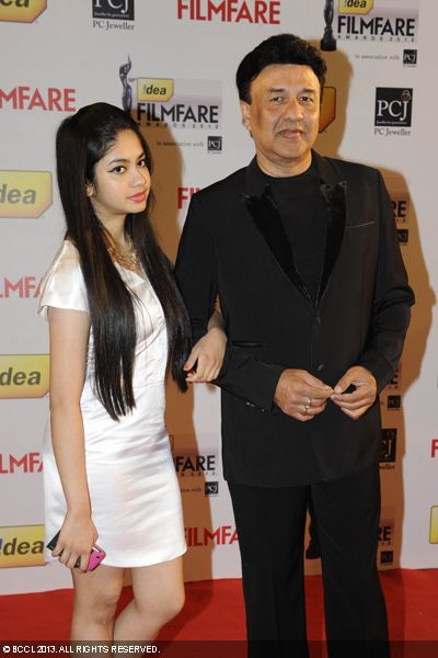 Anu Malik arrived with his daughter on the red carpet of 58th Idea Filmfare Awards 2013, held at Yash Raj Films Studios in Mumbai.Click here for:<br />  58th Idea Filmfare Awards
