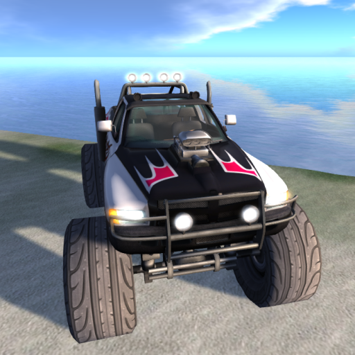 61 Prims Of Well Sculpted Gigantic Pick Up Truck With Oversized Wheels And  Suspensions. Now Smash Around And Squish Those Puny Cars! Drive Like A Boss!