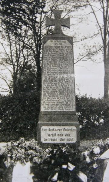 nieistniejący pomnik pierwszowojenny w Jezierzycach