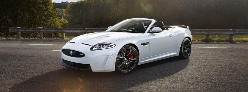 Jaguar convertible 2013 facebook cover
