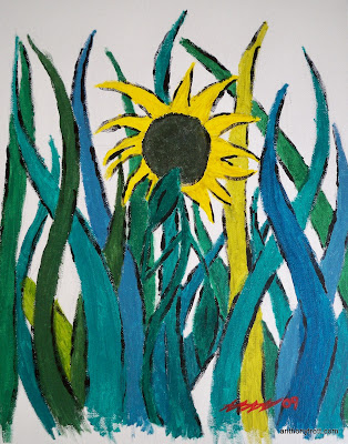 "Inspire #1 - 11"" x 14"" Acrylic on Canvas Board - January 2009"