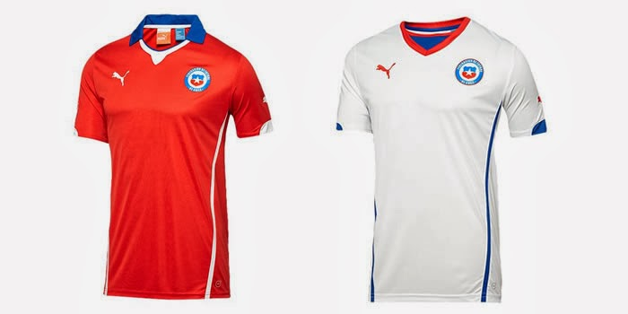 Chile Kits 2014 World Cup Home & Away Official Shirts Leaked