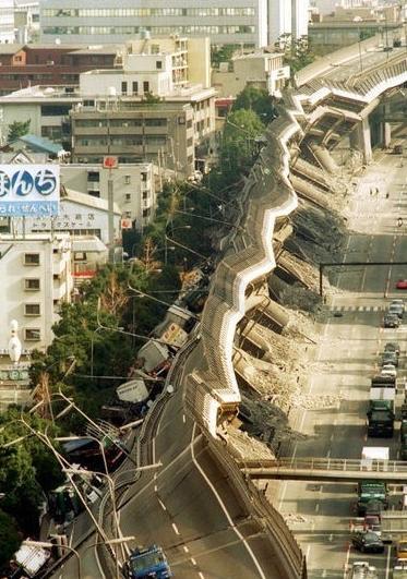 разрушения от землетрясения в Японии