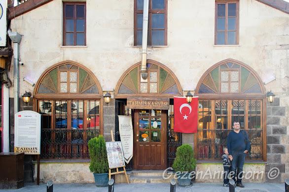tarihi Tahmis Kahvesi dıştan görünümü, Gaziantep