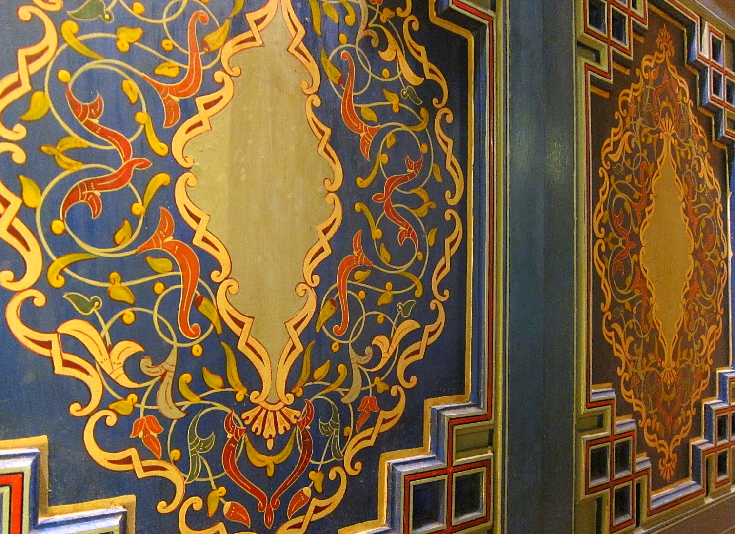 The hand painted closet door - Riad Al Moussika