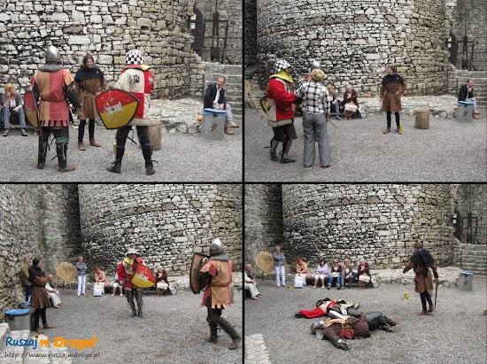 pokazy rycerskie na zamku Będzin
