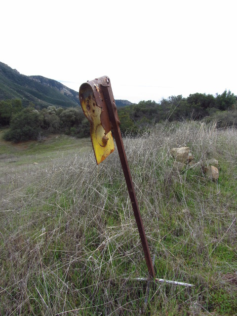 a bent up sign of unknown use