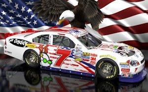 Danica Patrick NASCAR Unites Patriotic Wallpaper