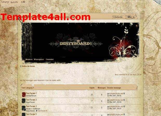 Vintage Dirty Board Phpbb3 Theme