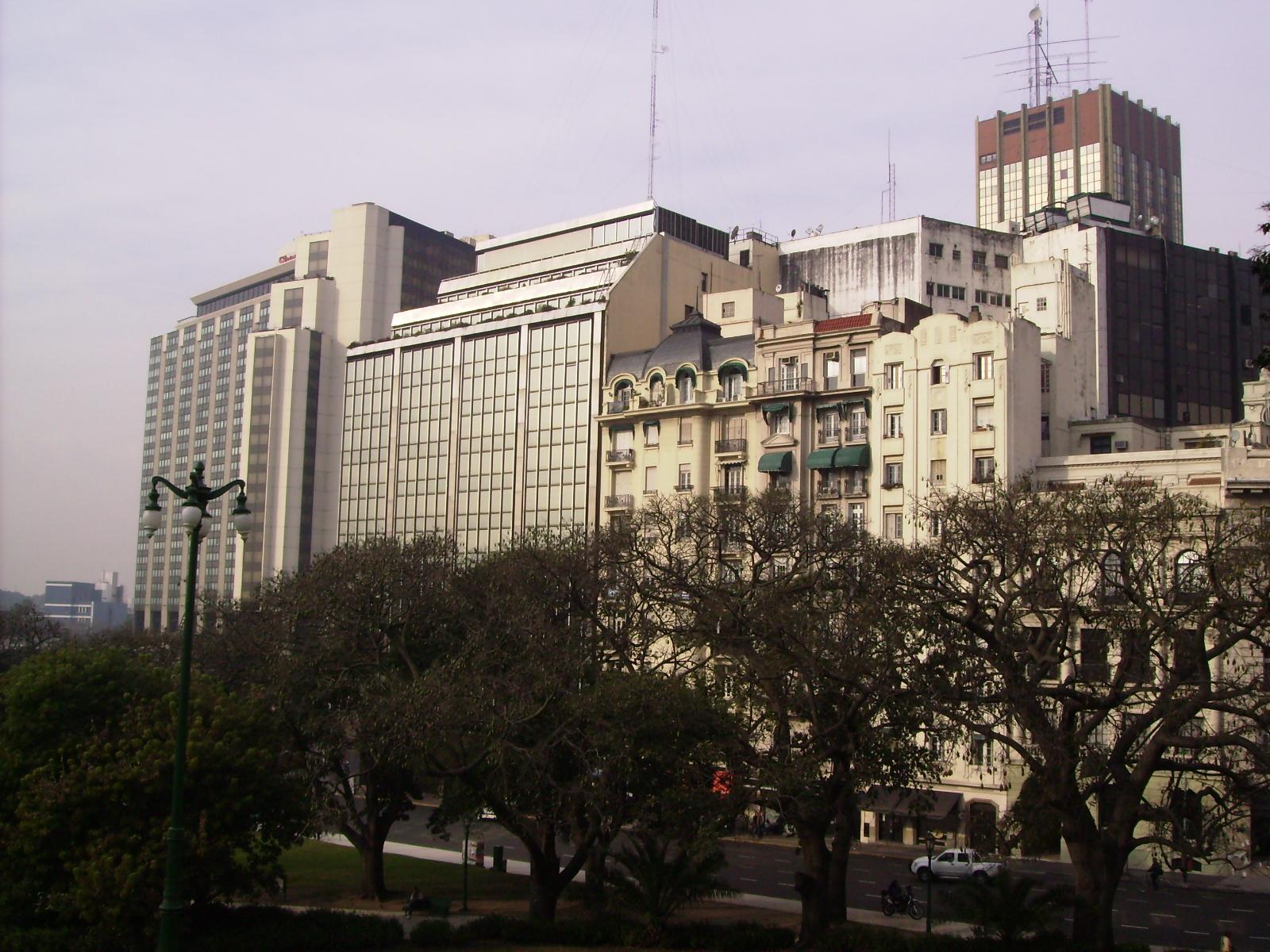 Arquitetura dos prédios em Buenos Aires