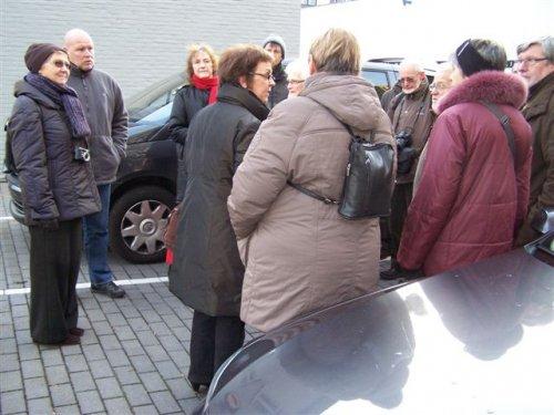 Stadswandeling naar Kortrijk met Pasar. Een 50tal enthousiastelingen dagen op