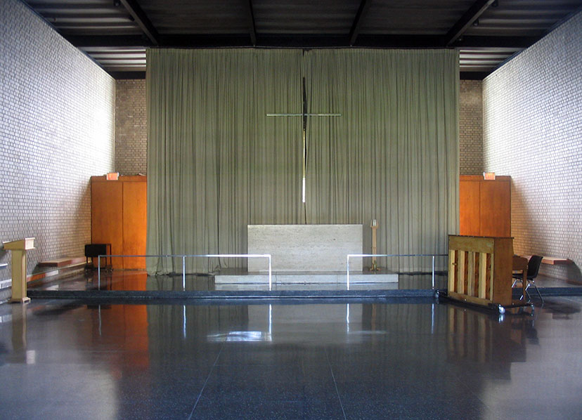Carr Chapel, the God Box, Illinois Institute of Technology, Chicago, Mies van der Rohe, architect