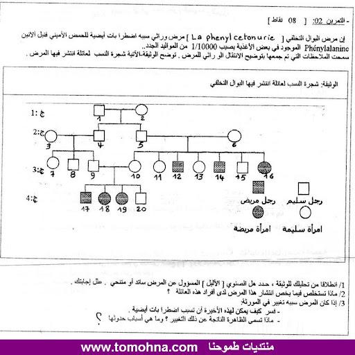 الاختبار الثاني في العلوم الطبيعية للسنة الثانية ثانوي علوم تجريبية - نموذج 4 - 3-2.jpg