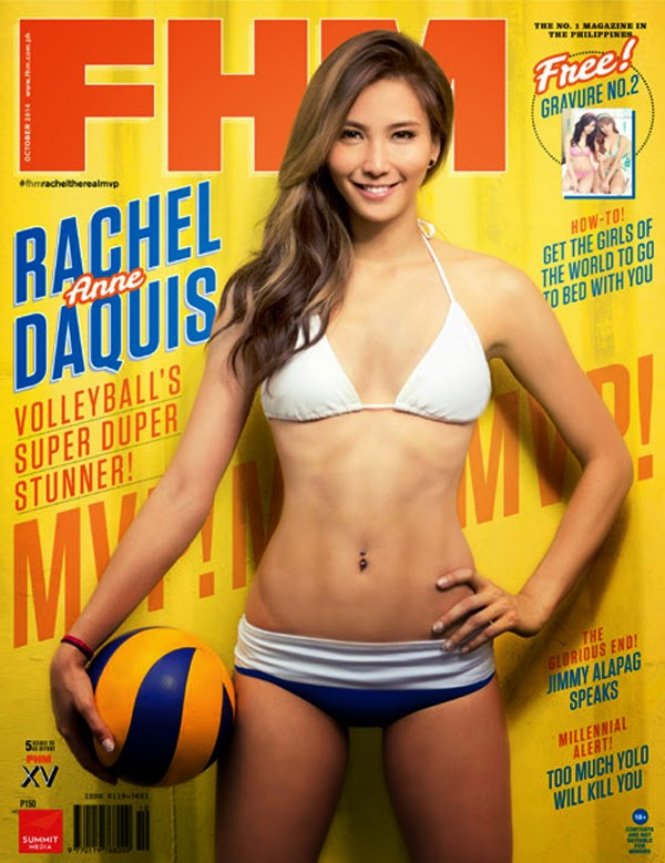 Rachel Anne Daquis on cover of FHM October 2014 Issue 04-27-09-2014