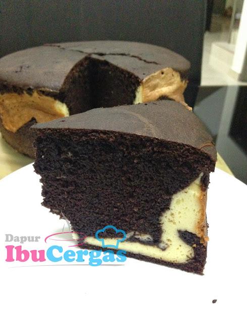 Kek Keju Coklat Marmar