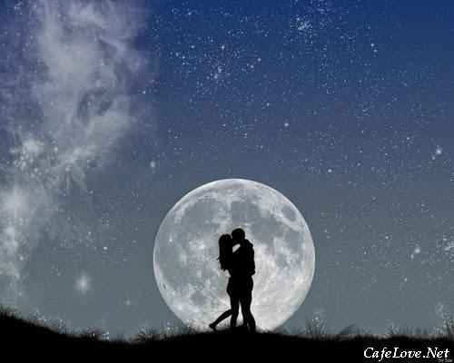 Hình ảnh đẹp về đêm trăng tình yêu