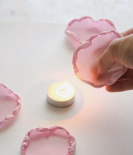 Flores de tecido queimado