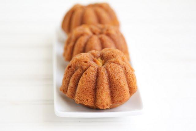 close-up photo of pumpkin nutella cakes