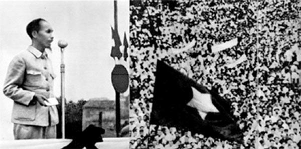 Bác Hồ đọc tuyên ngôn trong ngày độc lập