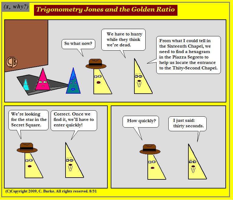 x, why?): Trigonometry Jones and the Golden Ratio, Part 89/55