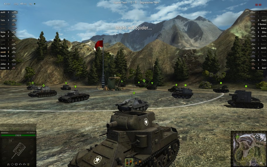 World of Tanks - Gameplay Screenshot / Berglandschaft