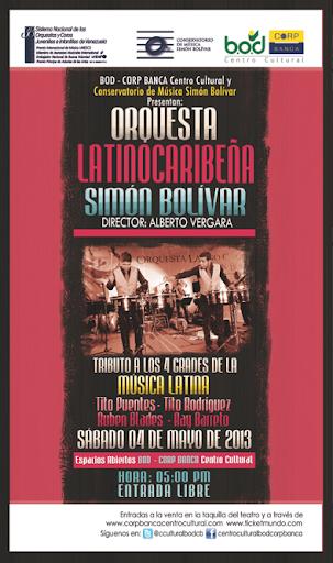 Afiche del concierto