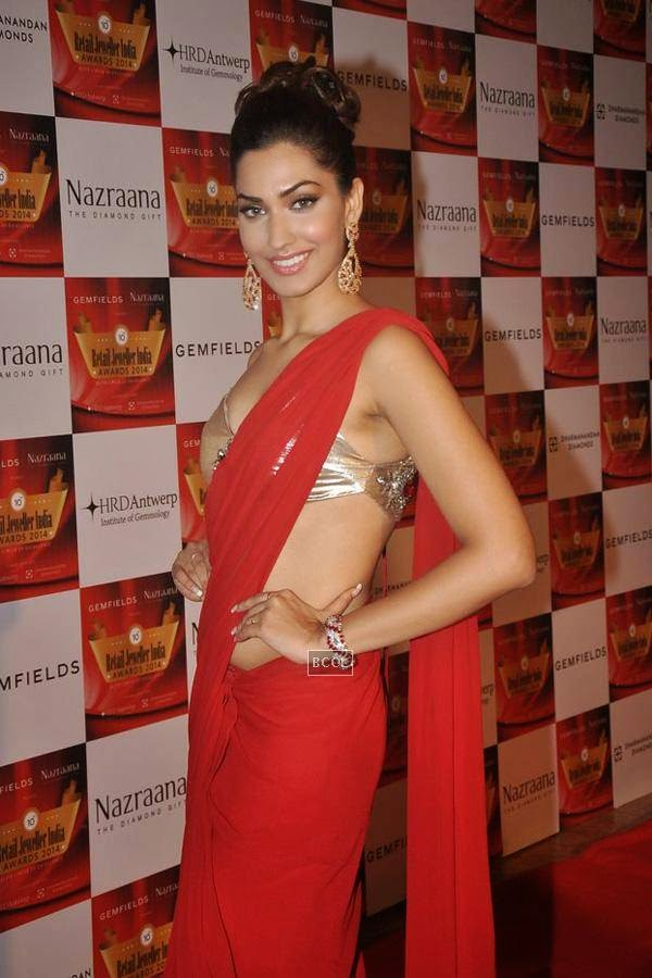 Jhataleka Malhotra during the 10th Annual Gemfields and Nazraana Retail Jeweller India Awards, 2014, in Mumbai, on July 19, 2014. (Pic: Viral Bhayani)