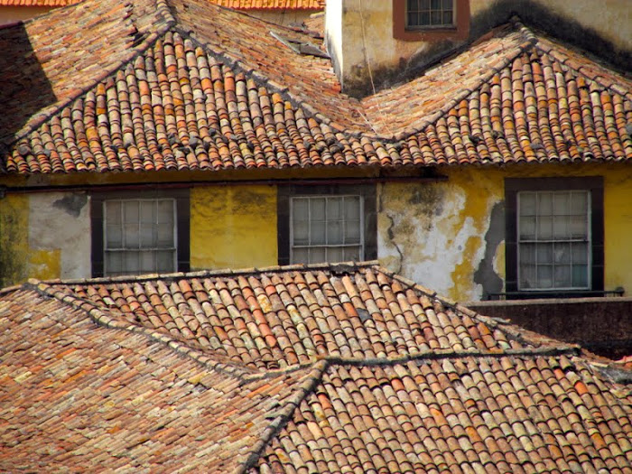old roofs in Funchal city