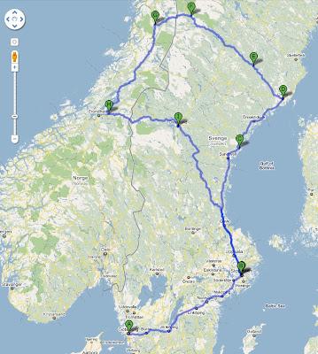 trip itinerary map