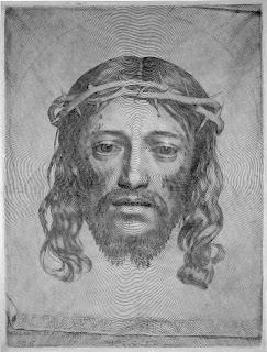 Claude Mellan Sudarium of Saint Veronica Jesus