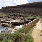 Burnt headland before Putty Beach on Bouddi Walk (19934)