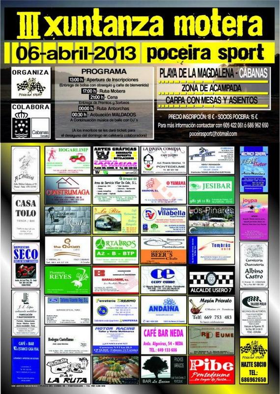 Cartel III Xuntanza Motera Poceira Sport 2013