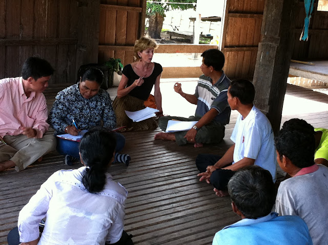 Gabrielle Yetter, interviewing for Moving to Cambodia book