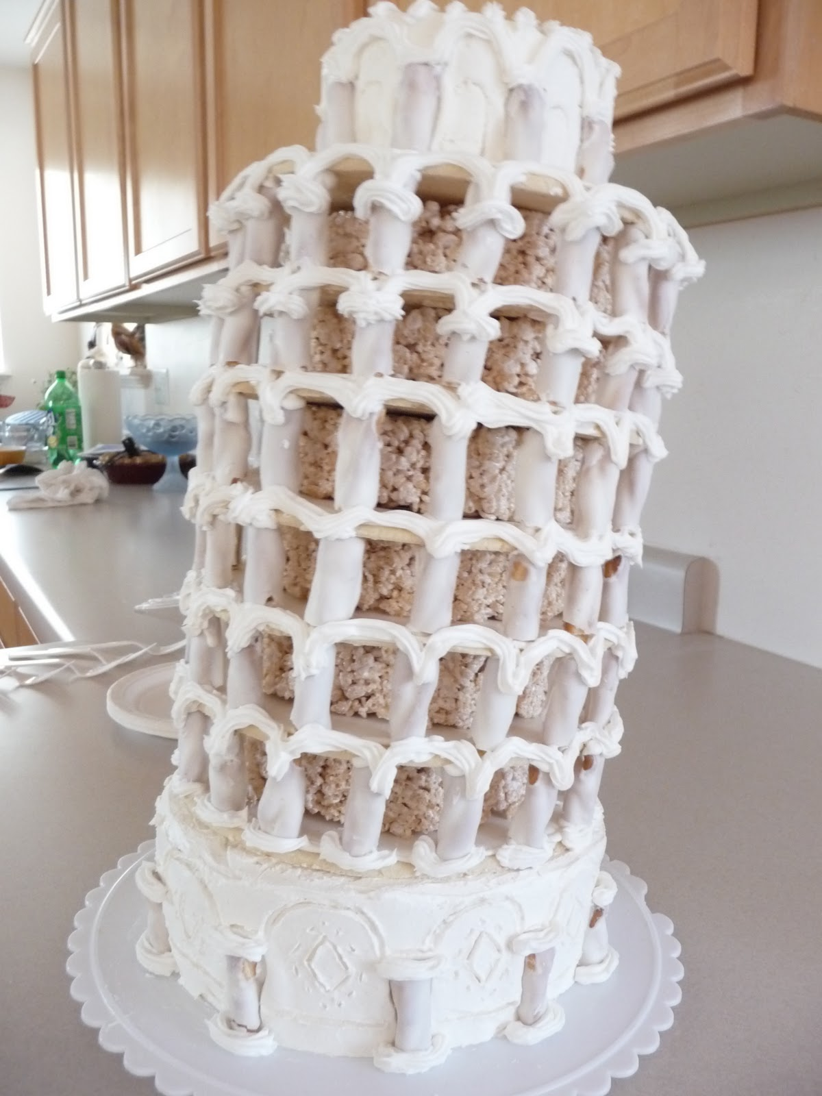The Family Mixing Bowl The Leaning Tower Of Pisa Cake