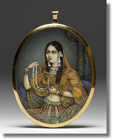 [Portrait Miniature of an Indian Courtesan]