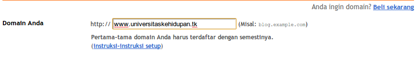 Upgrade Domain Blogspot ke [dot]TK 10