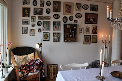 korgstol, tavlevägg, kortvägg, fotografier
