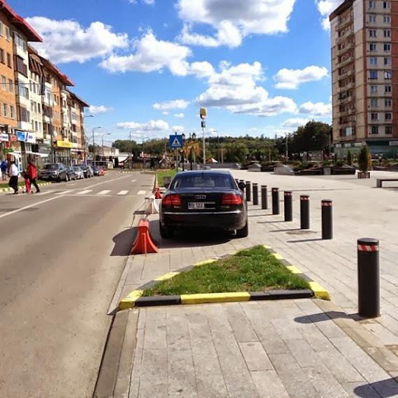Nesimţitul Băişanu a parcat ilegal la doi paşi de parcarea subterană