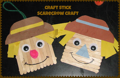 Scarecrow craft to hang on the door