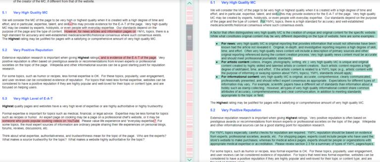 Resumen de cambios realizados en la actualización de las directrices para Quality Raters 6