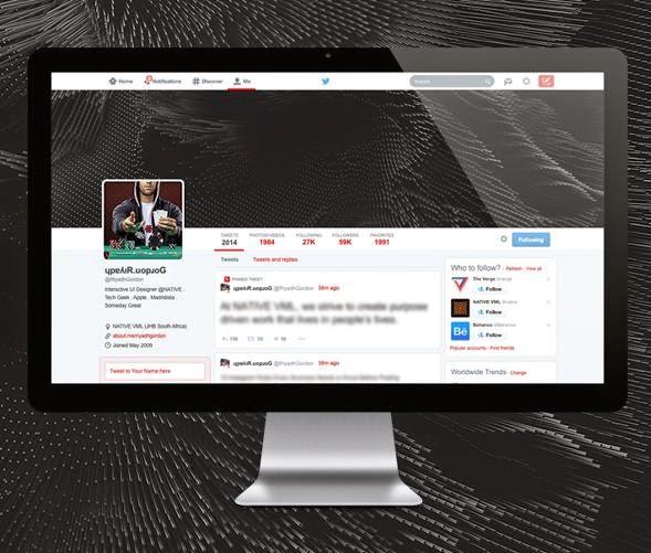 New twitter UI